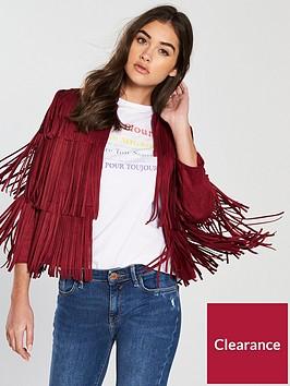 river-island-fringe-jacket-red