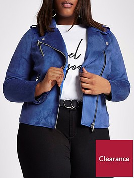 ri-plus-suedette-biker-jacket-blue