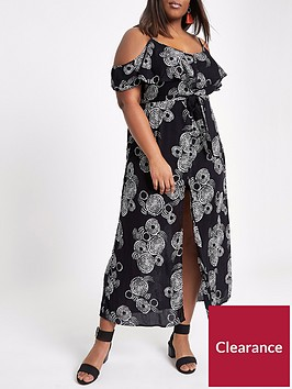 ri-plus-river-island-maxi-dress-black-print