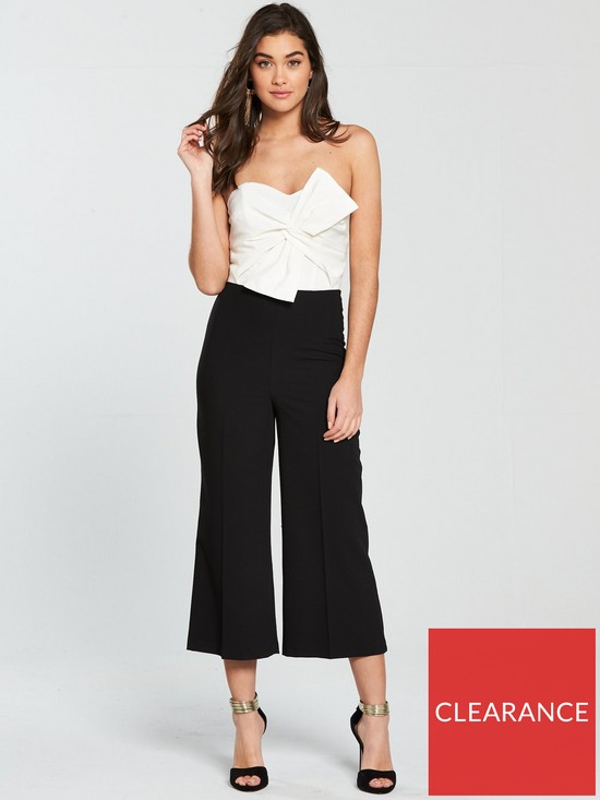 45829002fc3 Miss Selfridge Colour-Block Bandeau Structured Jumpsuit - Monochrome ...