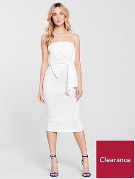 miss-selfridge-fan-bandeau-midi-dress-ivory