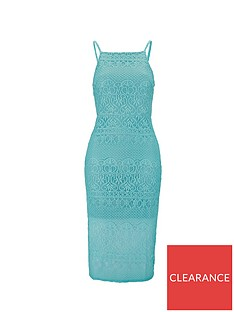 8fde3c6e7 Miss Selfridge Mint Lace Pencil Dress