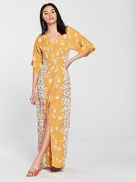 miss-selfridge-button-front-kimono-sleeve-maxi-dress-printed