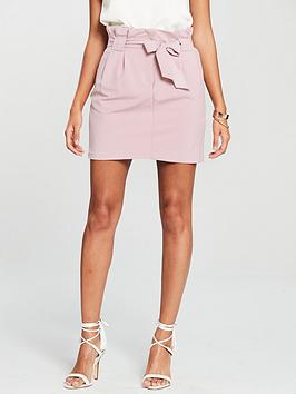miss-selfridge-paperbag-skirt-dusky-pink