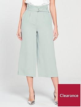 miss-selfridge-miss-selfridge-paperbag-wide-leg-crop-trouser