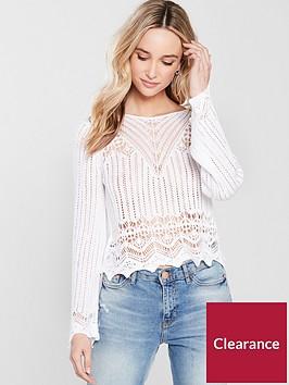 river-island-crochet-stitch-top-white
