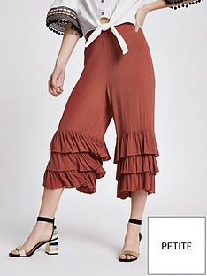 ri-petite-river-island-triple-frill-crop-wide-leg-trouser-red