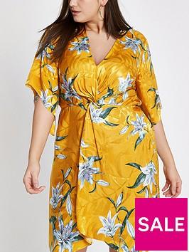 ri-plus-kimono-knot-front-dress-yellow-print
