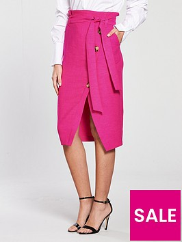 river-island-button-pencil-skirt-pink