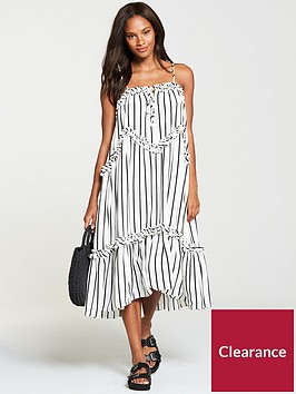 v-by-very-stripe-tiered-midi-dress-monochrome