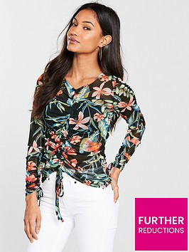 v-by-very-mesh-ruched-long-sleeve-top-print