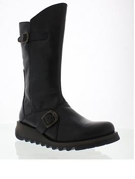 Fly London Fly Mes2 Buckle Knee Boot - Black