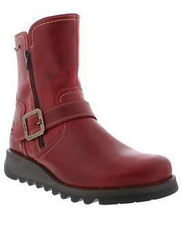 Fly London Fly Seku376 Buckle Ankle Boot - Red