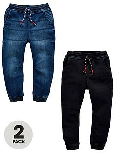 mini-v-by-very-mini-v-by-very2-pack-pull-on-carrot-fit-jean-dark-wash-and-black