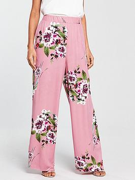 Vila Vila Birdo Floral Printed High Waisted Pant