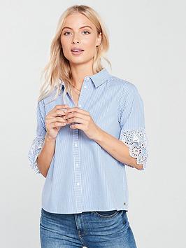 Maison Scotch Embroidered Sleeve Shirt