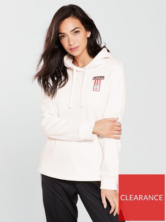 bfb9222492c3 adidas Originals Adibreak Hoodie - Cream