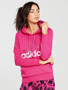 Adidas Essentials Linear Hoodie - Magenta