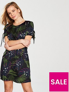 v-by-very-petite-short-sleeve-tunic-dress-leaf-print