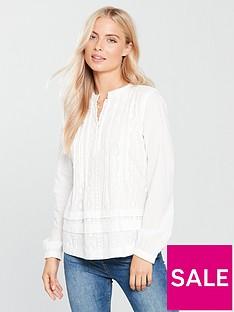 maison-scotch-embroidered-blouse