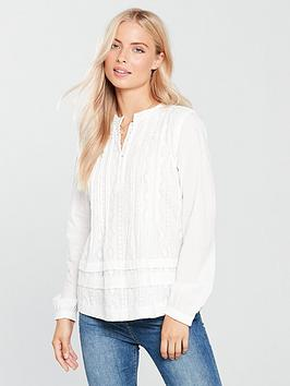 Maison Scotch Embroidered Blouse