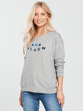 Maison Scotch Crew Neck Logo Sweat