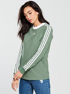 adidas-originals-3-stripes-long-sleeve-top-greennbsp