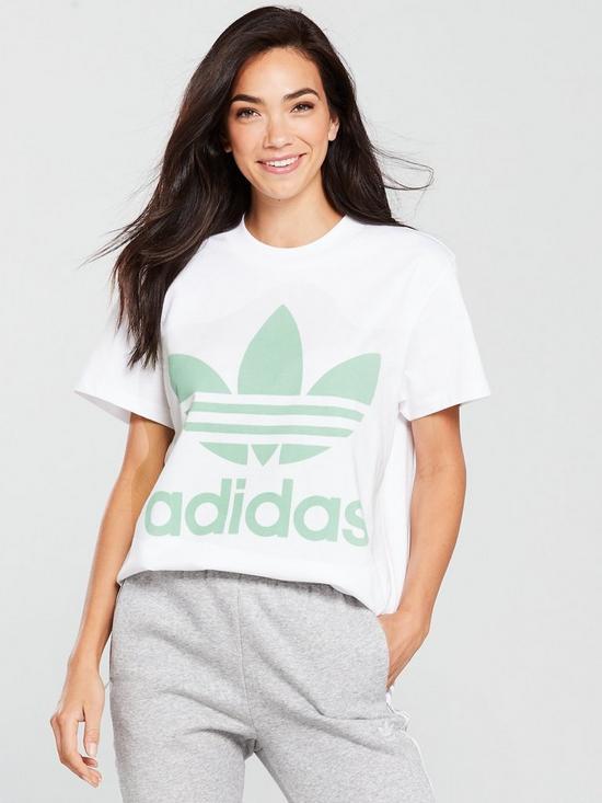 da3e7fce adidas Originals Big Trefoil T-Shirt - White | very.co.uk