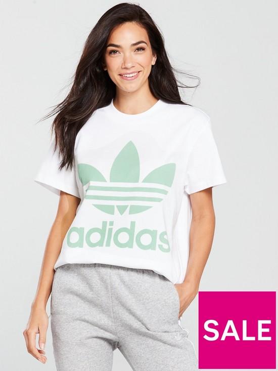 adidas Originals Big Trefoil T-Shirt - White  6167f832c88e