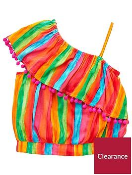 v-by-very-girls-rainbow-stripe-one-shoulder-blouse-multi