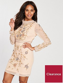 frock-and-frill-long-sleeve-embellished-shift-dress-crystal-pinknbsp