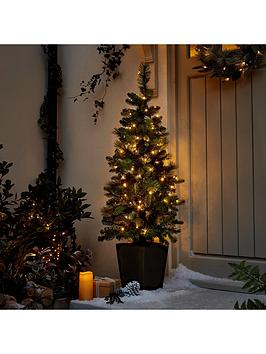 45ft-pre-lit-potted-indooroutdoor-christmas-tree
