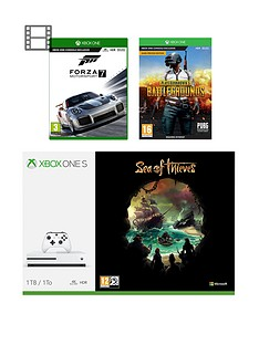 xbox-one-s-1tb-console-with-sea-of-thieves-playerunknowns-battlegrounds-and-forza-motorsports-7-plus-optional-extra-controller-andor-12-months-live-gold