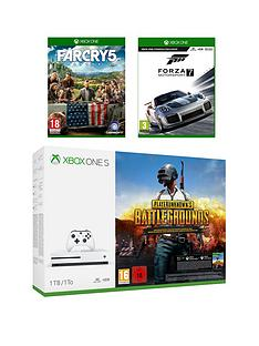 xbox-one-s-1tb-console-with-playerunknowns-battlegrounds-far-cry-5-and-forza-7-plus-optional-extra-controller-andor-12-months-live-gold