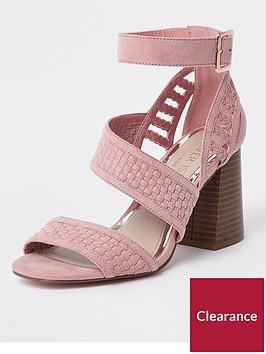 river-island-wide-fit-woven-strap-sandal-pink