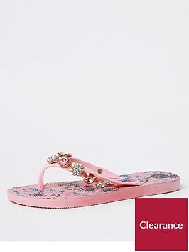 river-island-river-island-jewel-embellished-printed-flip-flops--pink