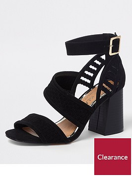 river-island-wide-fit-woven-strap-sandal-black