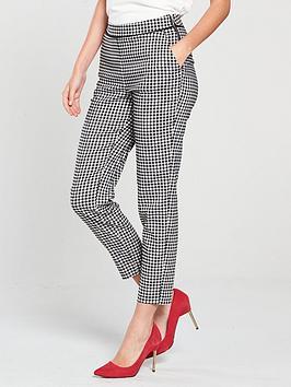 wallis-gingham-trouser-blackwhite