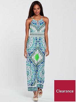 wallis-mykonos-tile-maxi-dress-green-print
