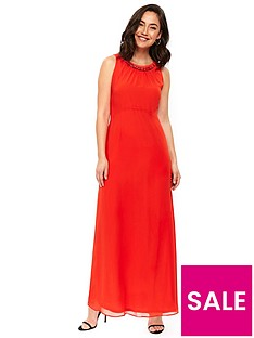 wallis-embellished-trim-maxi-dress-orangenbsp