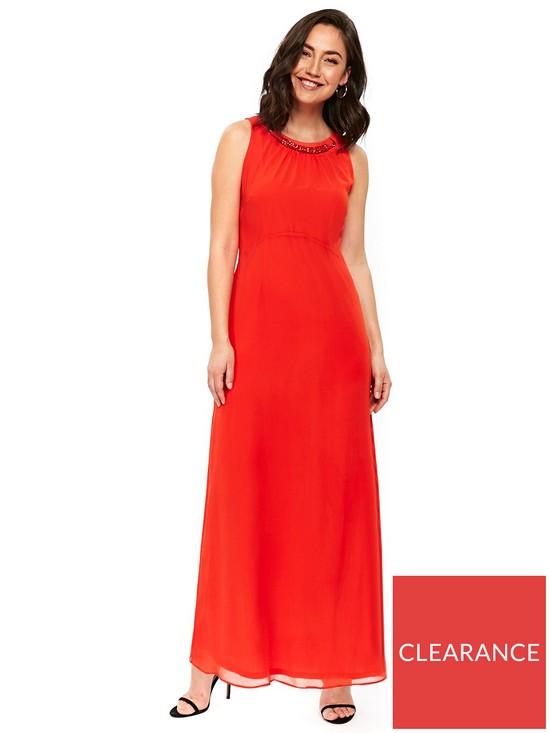 ec89dd63f4d9c Wallis Embellished Trim Maxi Dress - Orange