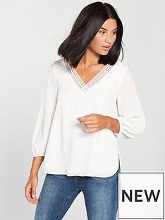 wallis-trim-sleeve-top