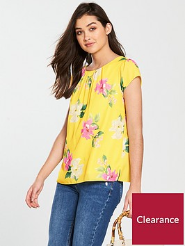 wallis-rose-printed-short-sleeve-top-lemonnbsp