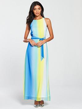 wallis-ocean-ombre-maxi-dress-blue