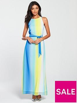 wallis-ocean-ombre-maxi-dress-blue