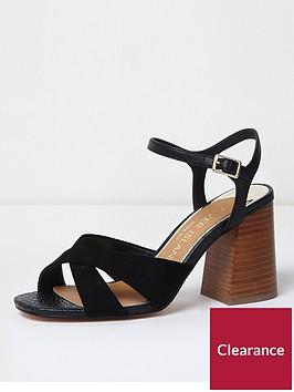 river-island-river-island-wide-fit-cross-strap-sandal--black