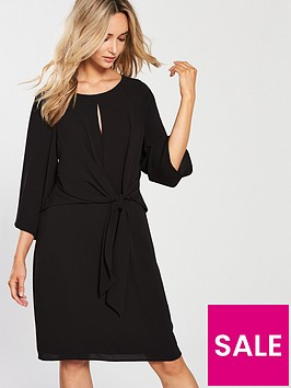 wallis-knot-front-dress-black