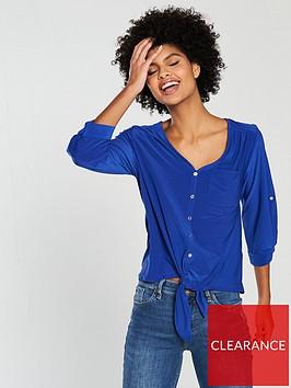 wallis-tie-front-pocket-shirt-blue