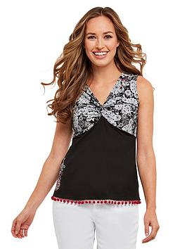 joe-browns-lovely-pom-pom-top-black