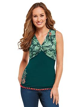 joe-browns-lovely-pom-pom-top-green